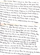 "Image shows a handwritten letter stating, ""Once inmates took a stand on that they called in the riot squad. Things were still peaceful at this point, when inmates finally locked down in their housing units understanding that there was going to be no resolution. There riot squad came in harassing inmates shooting us with Pepper Balls, and spraying us with mace. And leaving us hand cuffed on the basketball's concrete floor for hours on end. A hostile environment was created, and things took a turn for the worse, which I understand was not supposed to take place. They shipped about 300-400 inmates from Kinross to other facility's placing us all in the hole (segregation). I was among those who were transferred, which 80 of us was sent to (RGC) Jackson's facility. They entered a guilty plea on my behalf of the incite to riot/protest ticket, which is one of the worst tickets you can catch in prison it runs neck to neck with a homicide ticket. And I clearly stated on record that I was pleading not guilty. But in the retaliation they've done to us what they've wanted to do. The warden at the prison that I'm being held at (Oaks Correctional Facility) stated to us upon our arrival that he was going to make ""a great example out of us boys from Kinross."""""