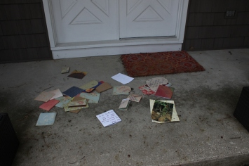 cards on the porch